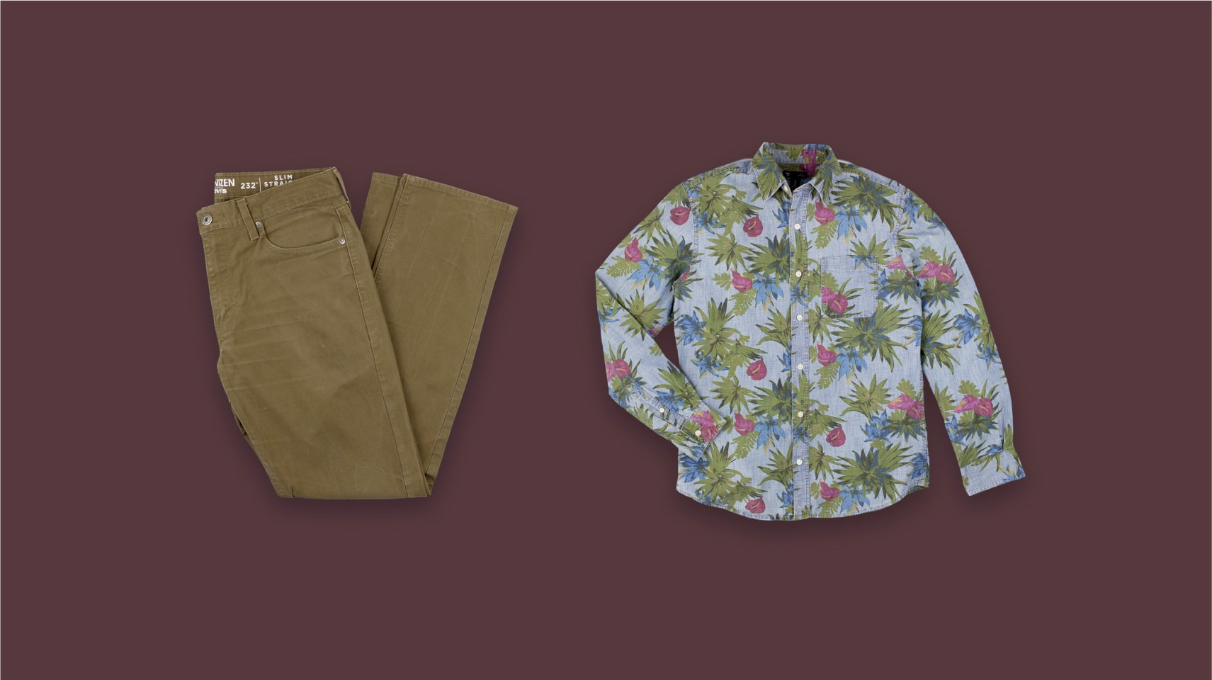 Example of a clothing flatlay