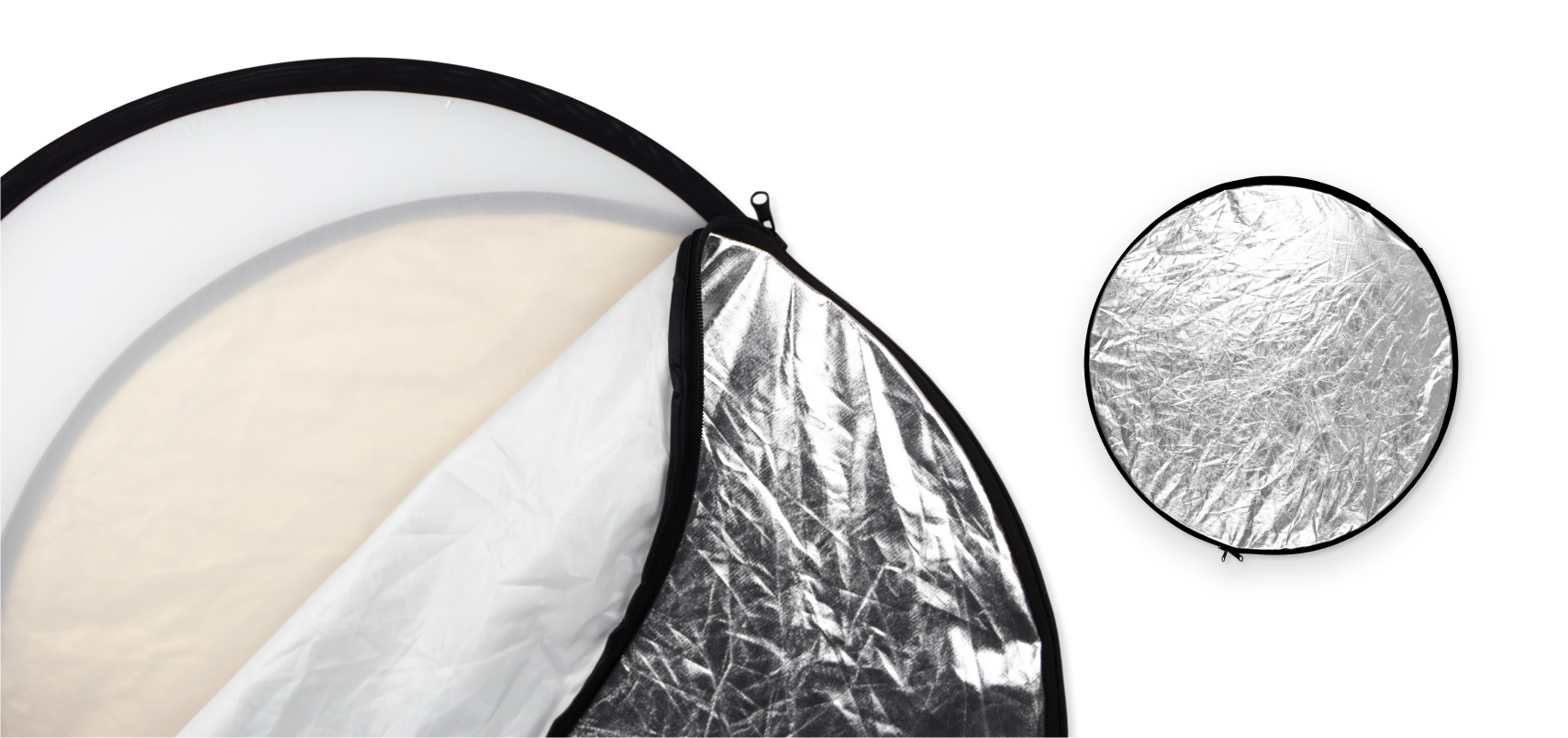A photography round reflector/diffuser