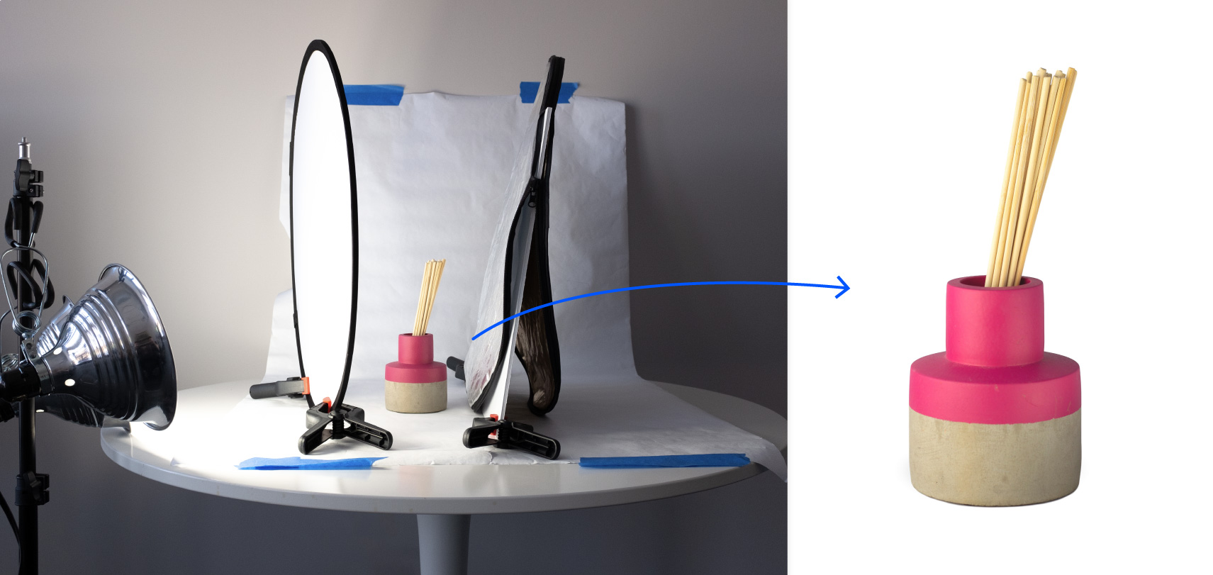 Our photo studio and product photo taken under 100 dollars