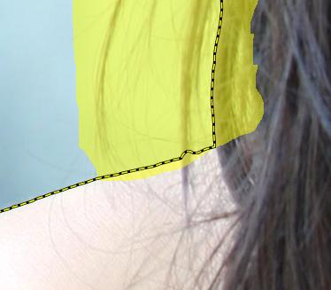 Original tutorial image with marks